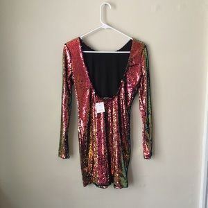 a25c456a3cb Motel Rocks Dresses - Color-shifting Sequin Dress by Motel